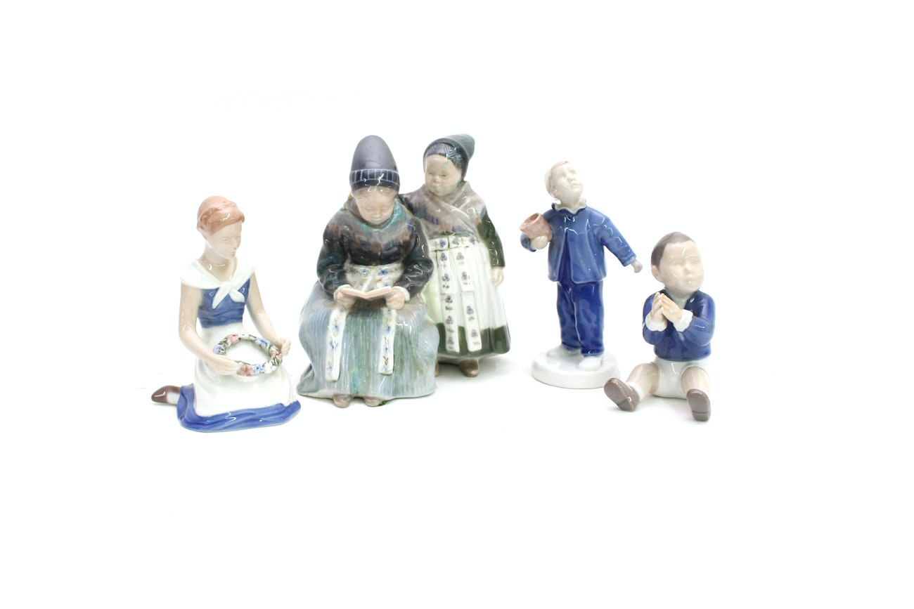 Bing & Grøndahl and Royal Copenhagen Porcelain Figurines