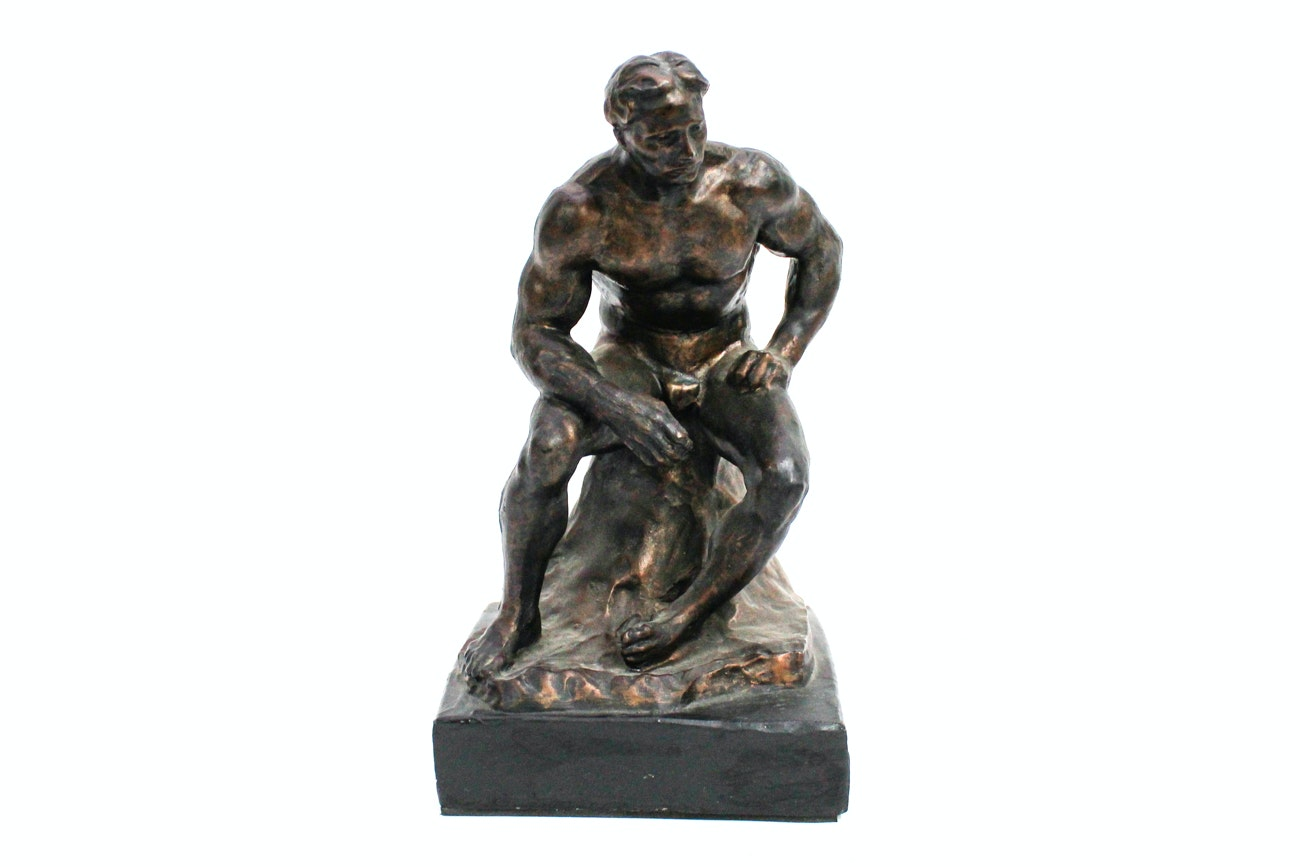 Thinking Man Sculpture
