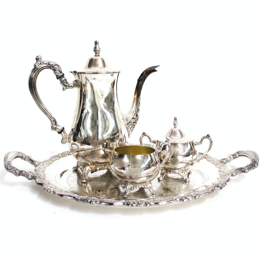 Oneida Silver Plate Coffee Set with Tray : EBTH