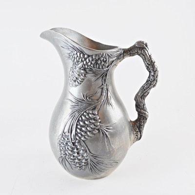 Pewter Pinecone Pitcher