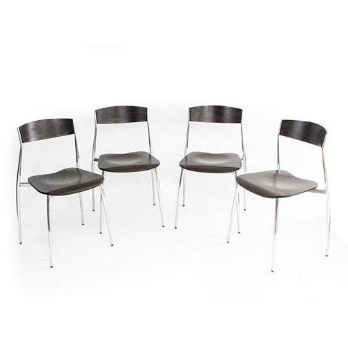 "Four Vintage Italian Modern ""Baba"" Birch Chairs by Altek"