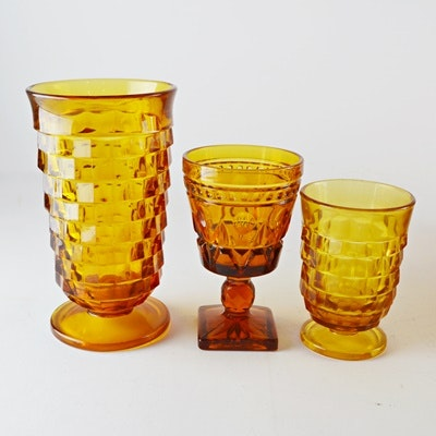 "Colony ""Whitehall"" and ""Park Lane"" Amber Glass Collection"