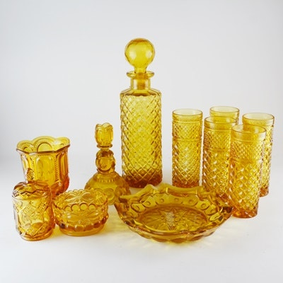 Amber Tone Glassware and Serveware