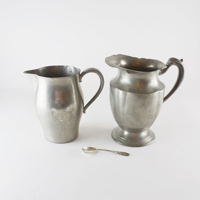 Paul Revere Pewter Pitcher and Other Pewter