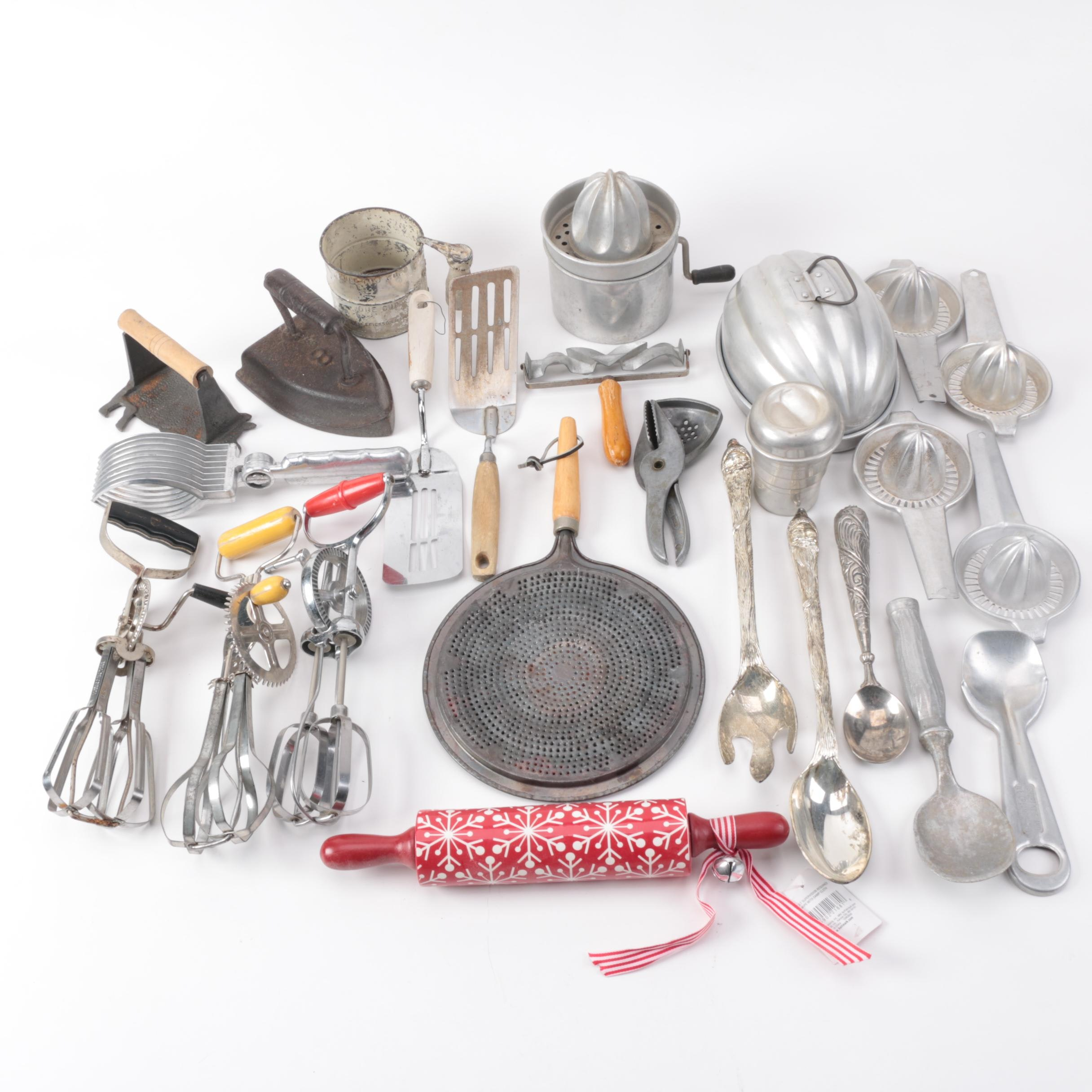 Delicieux Vintage Kitchen Gadgets Featuring Hand Mixers, Serving Utensils And More ...