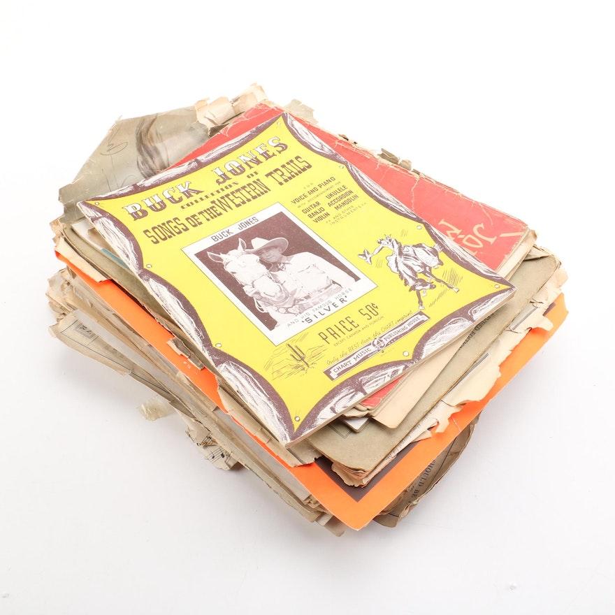 Vintage Sheet Music Booklets