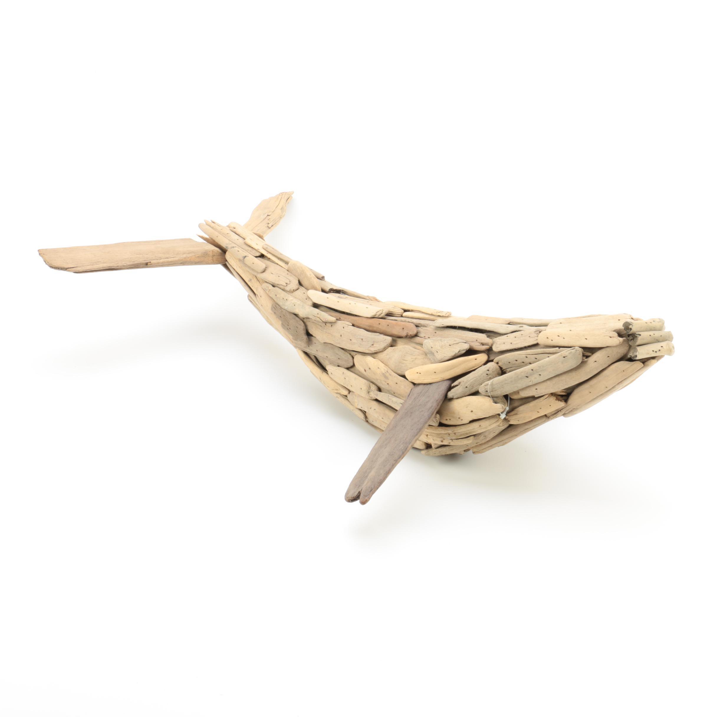 Driftwood Whale Sculpture