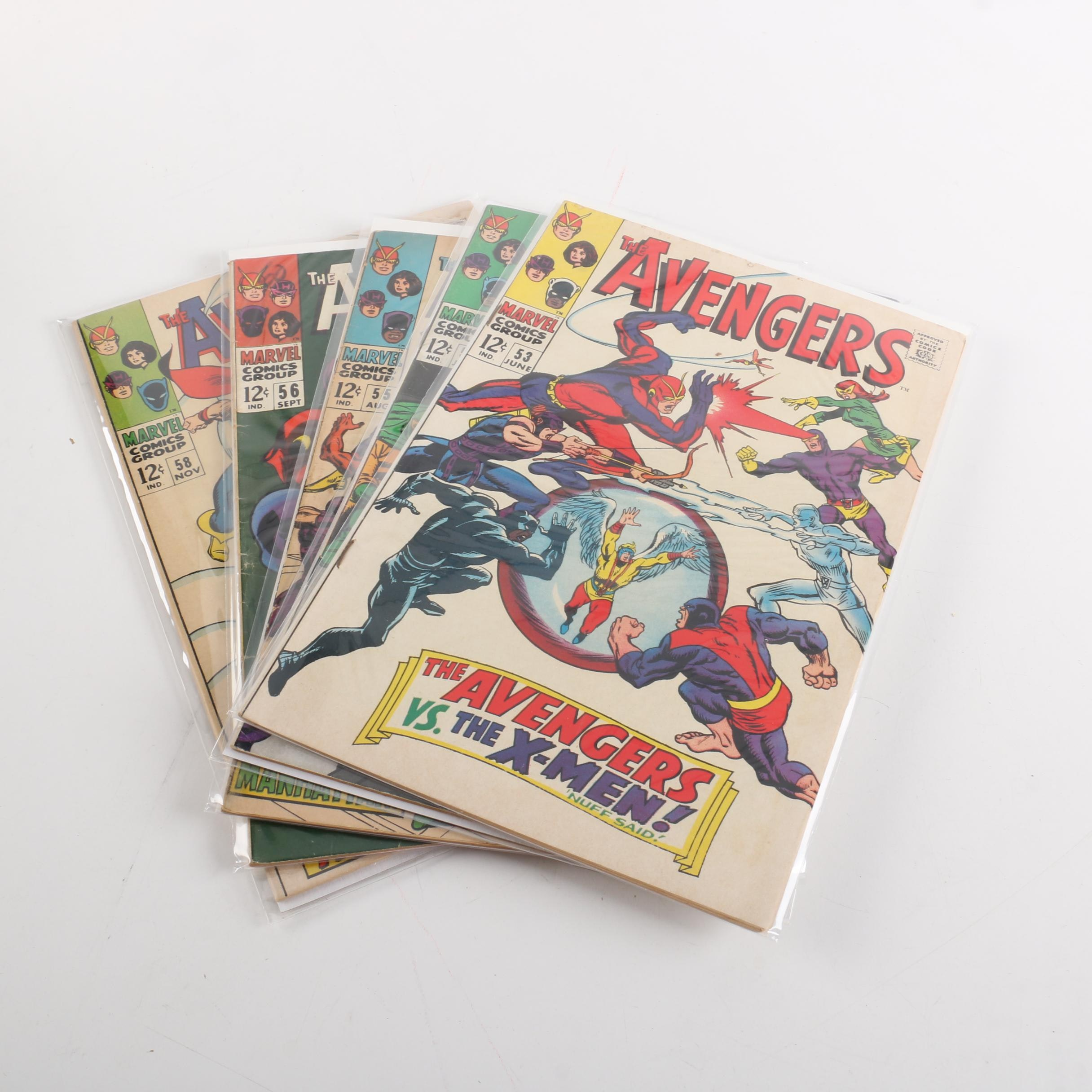 """""""Avengers"""" Issue #53-56 and #58 with First Cameo and Full Ultron Appearances"""