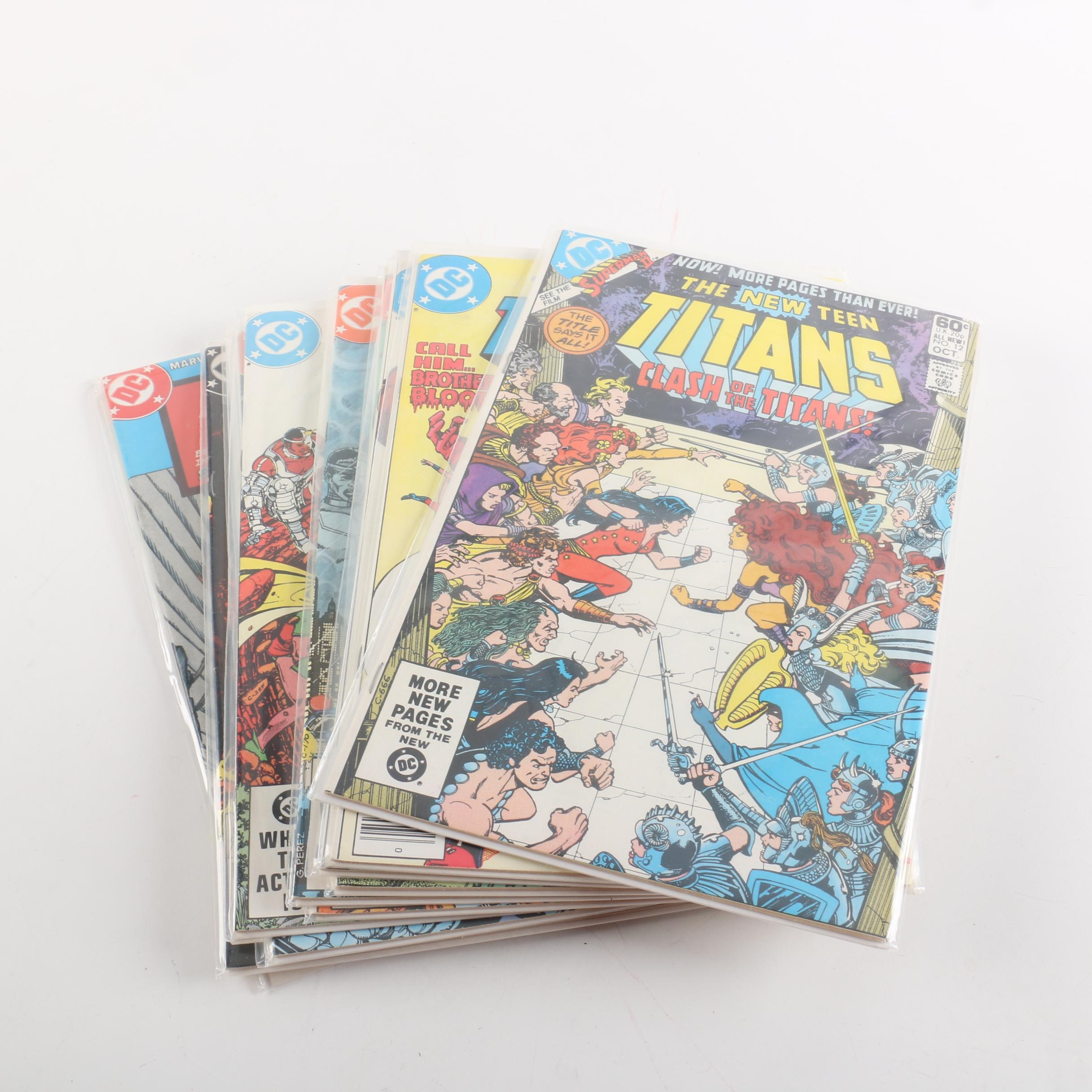 """Collection of Bronze Age DC """"The New Teen Titans"""" Comic Books"""