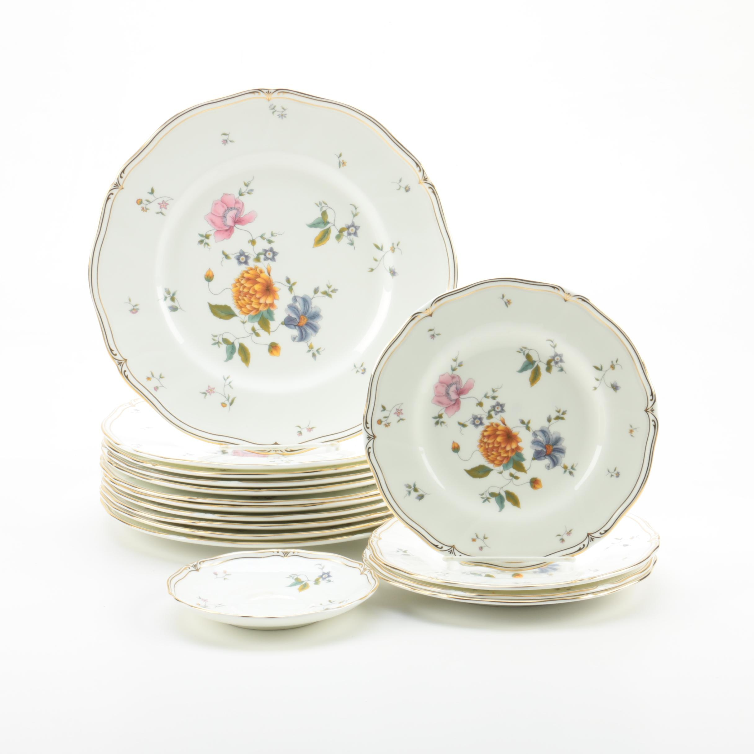 "Wedgwood ""Rosemeade"" Bone China Plates"