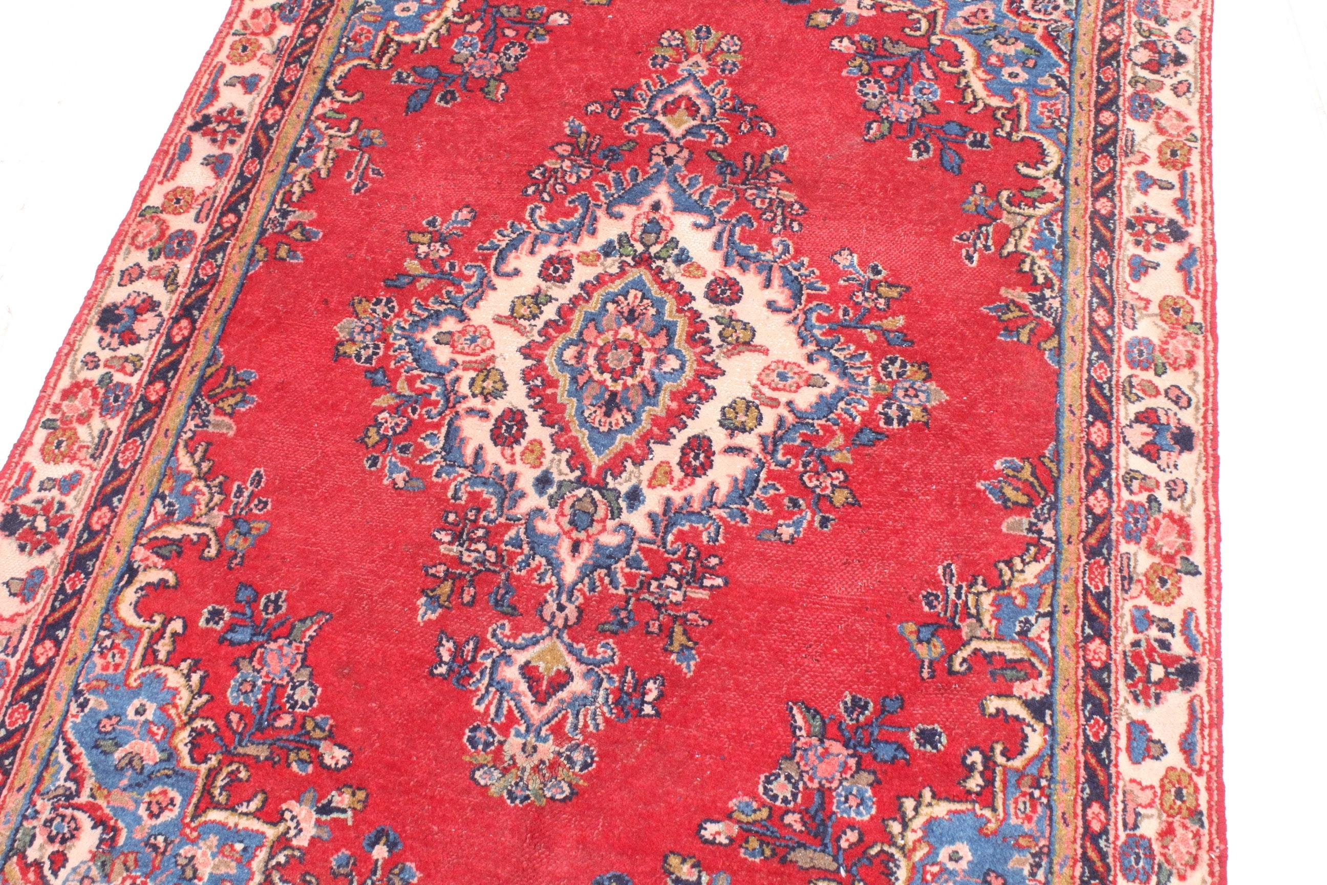 Semi-Antique Hand-Knotted Persian Kashan Rug : EBTH