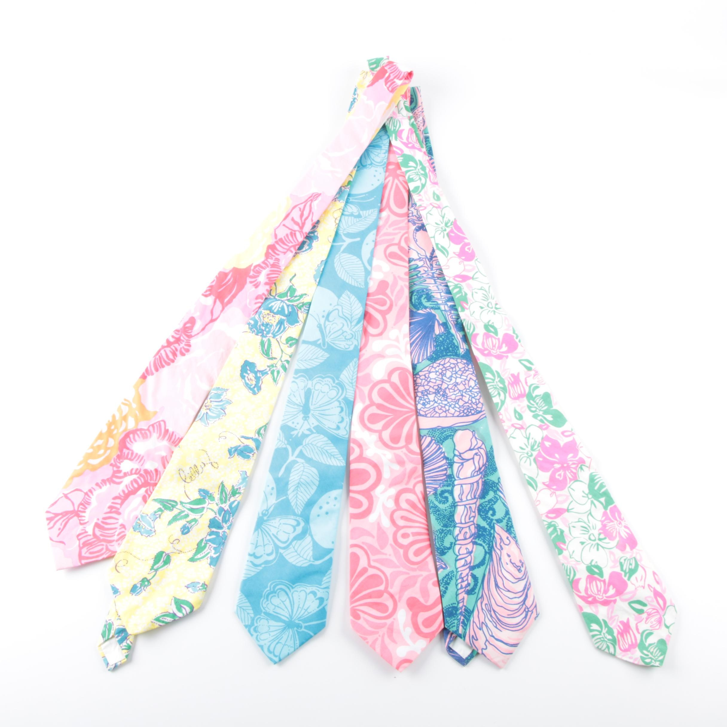 Lilly Pulitzer and Key West Fabrics Printed Cotton Neckties