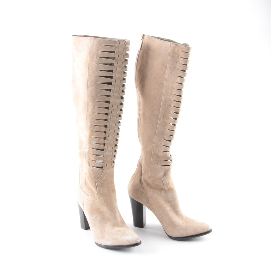 c84255590d0 Tamara Mellon Suede Cutout Boots : EBTH