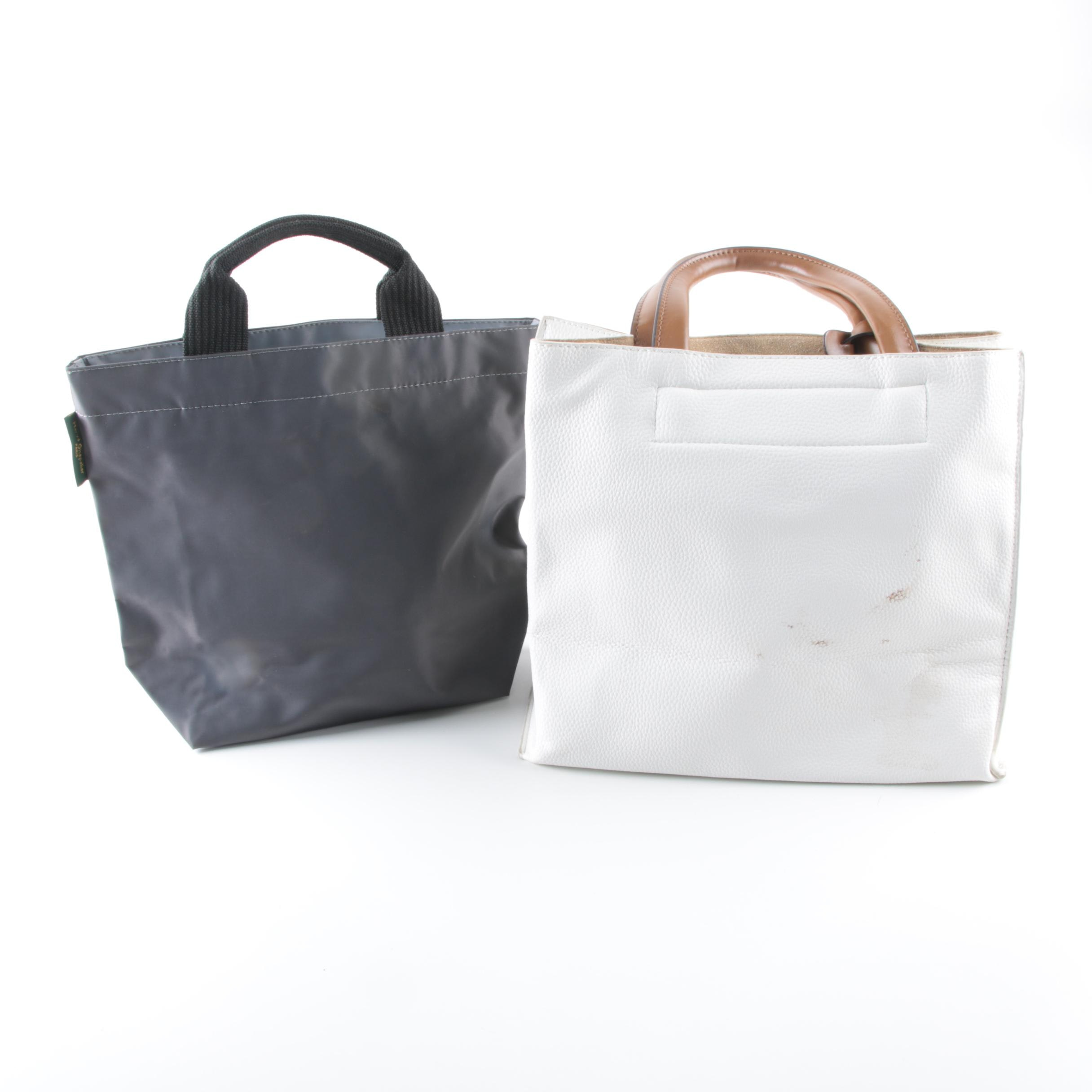 Leather and Nylon Tote Bags