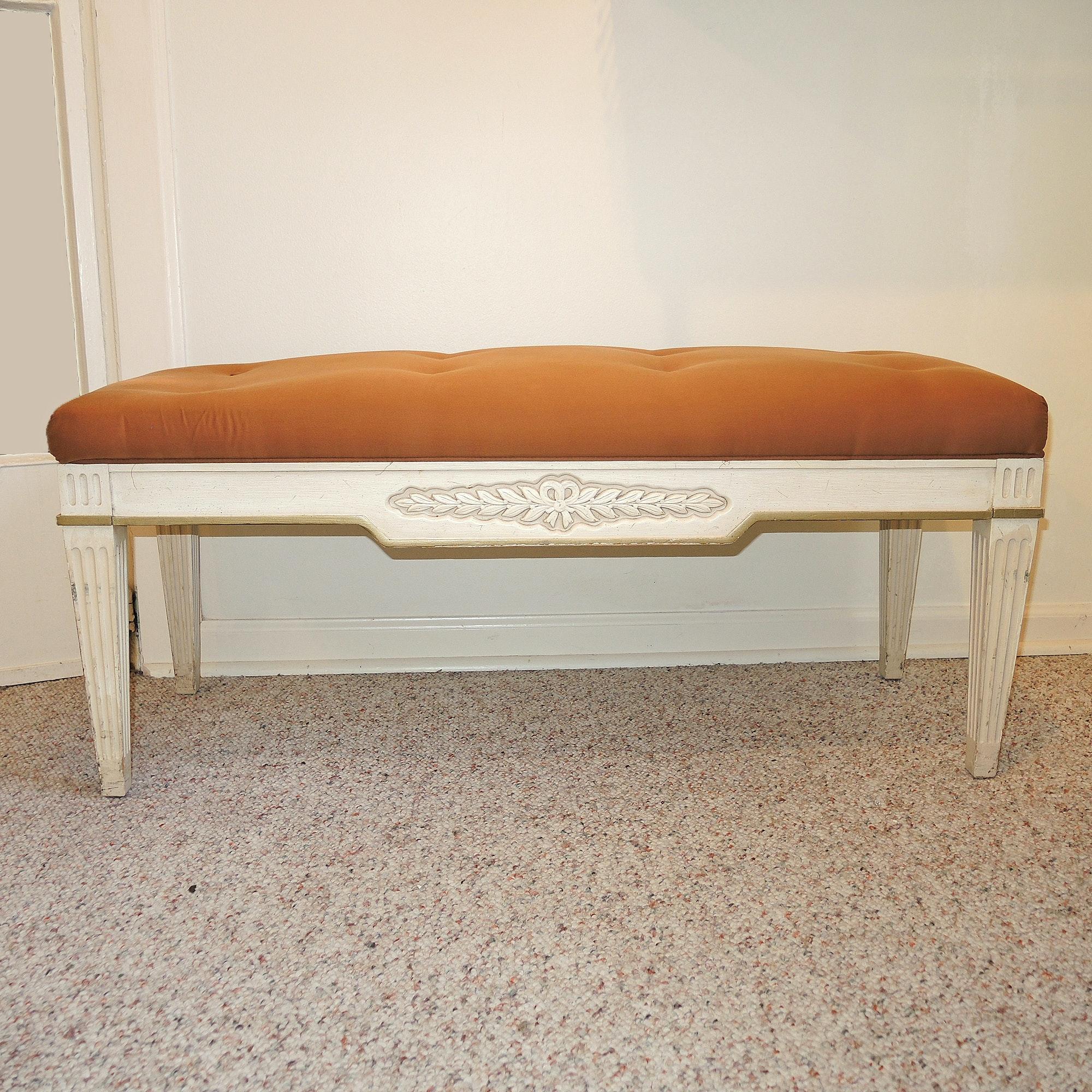 Drexel Upholstered Vanity Bench