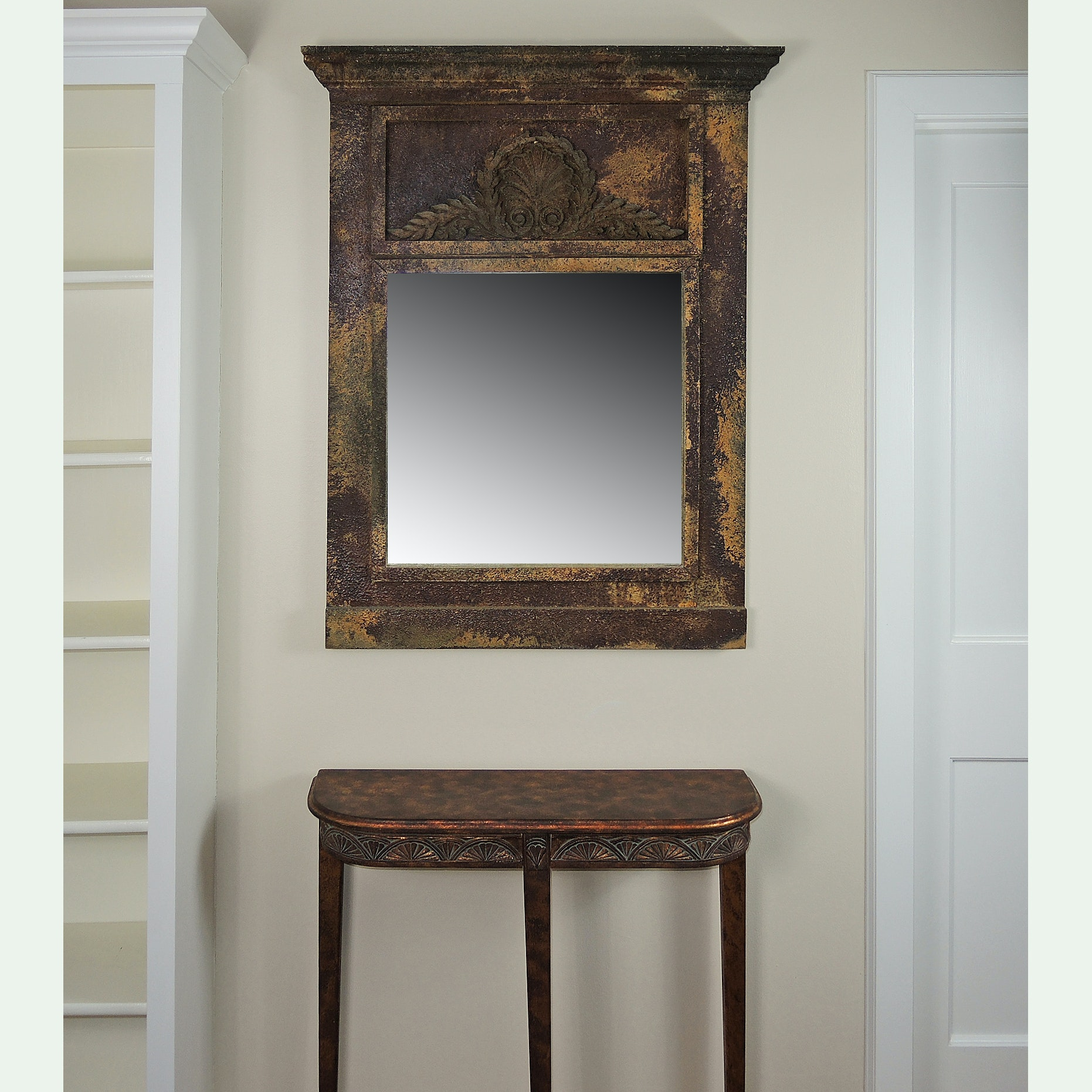 Decorative Wall Mirror And Accent Table