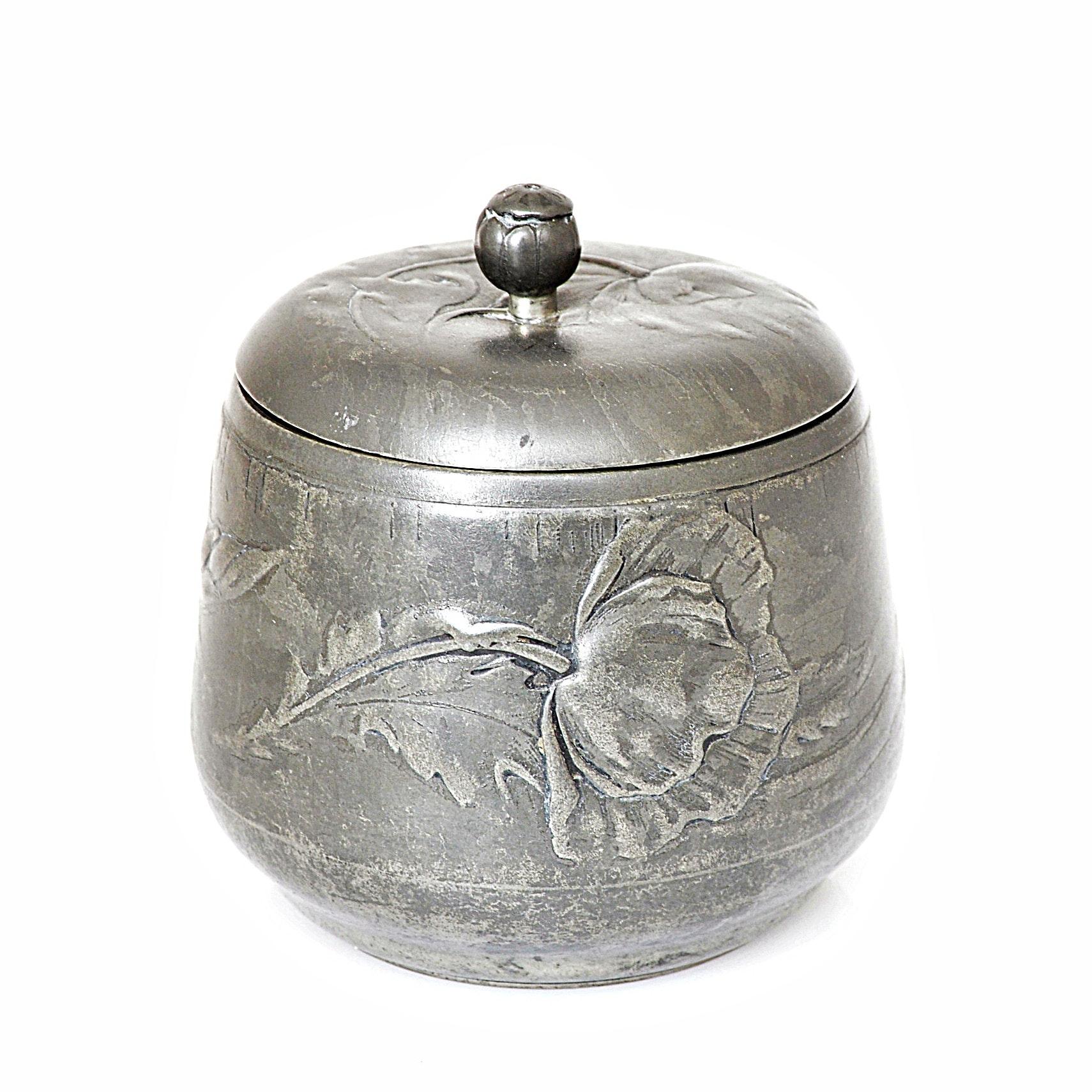 Art Nouveau Kayserzinn Lidded Jar