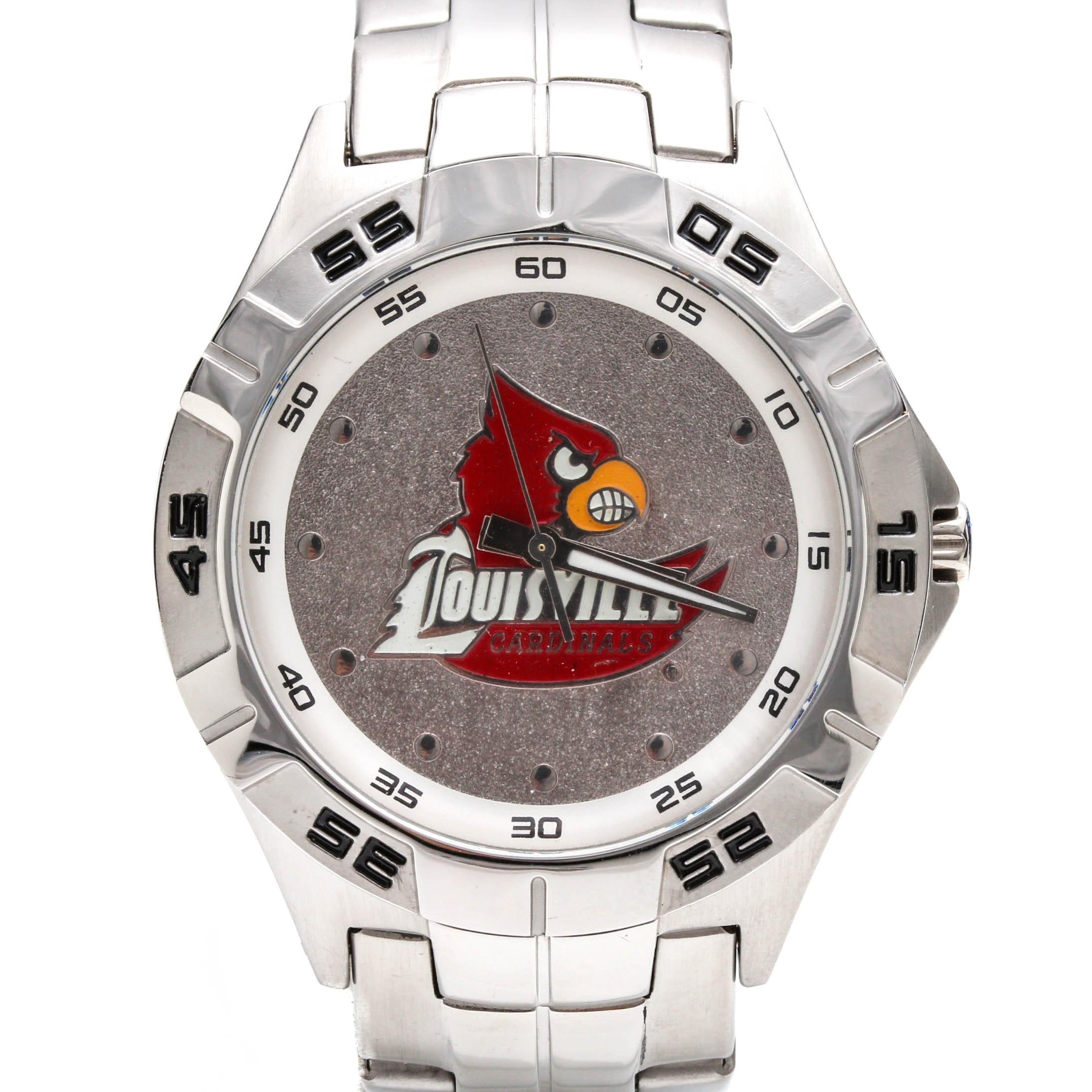 Fossil Lousiville Cardinals Logo Stainless Steel Wristwatch