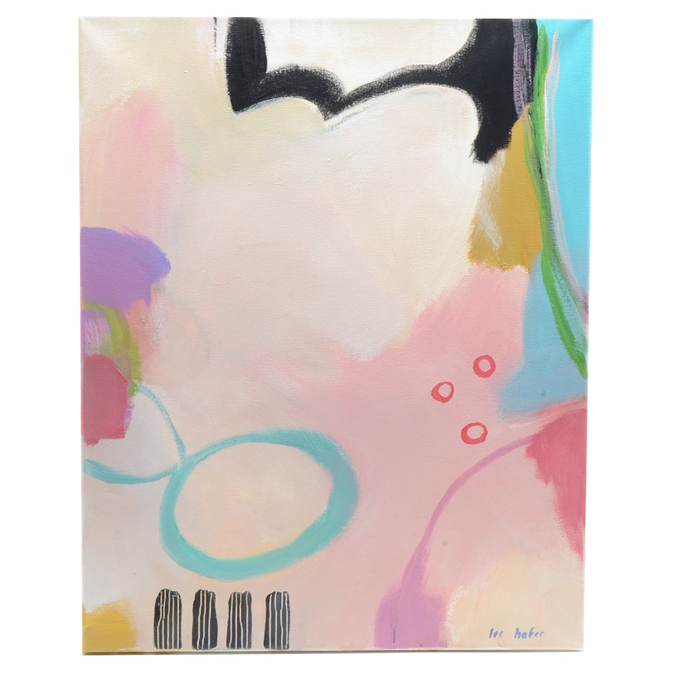Lee Hafer Original Acrylic on Canvas Abstract Painting