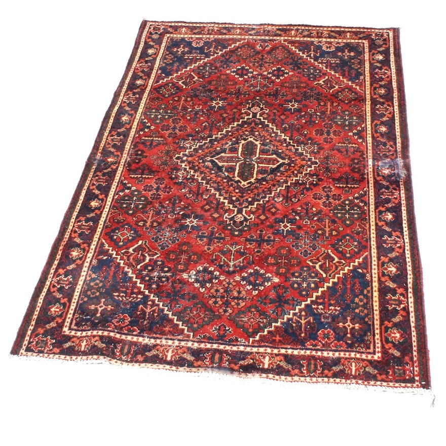 Hand Knotted Persian Wool Area Rug Ebth: Hand-Knotted Semi-Antique Persian Josheghan Rug