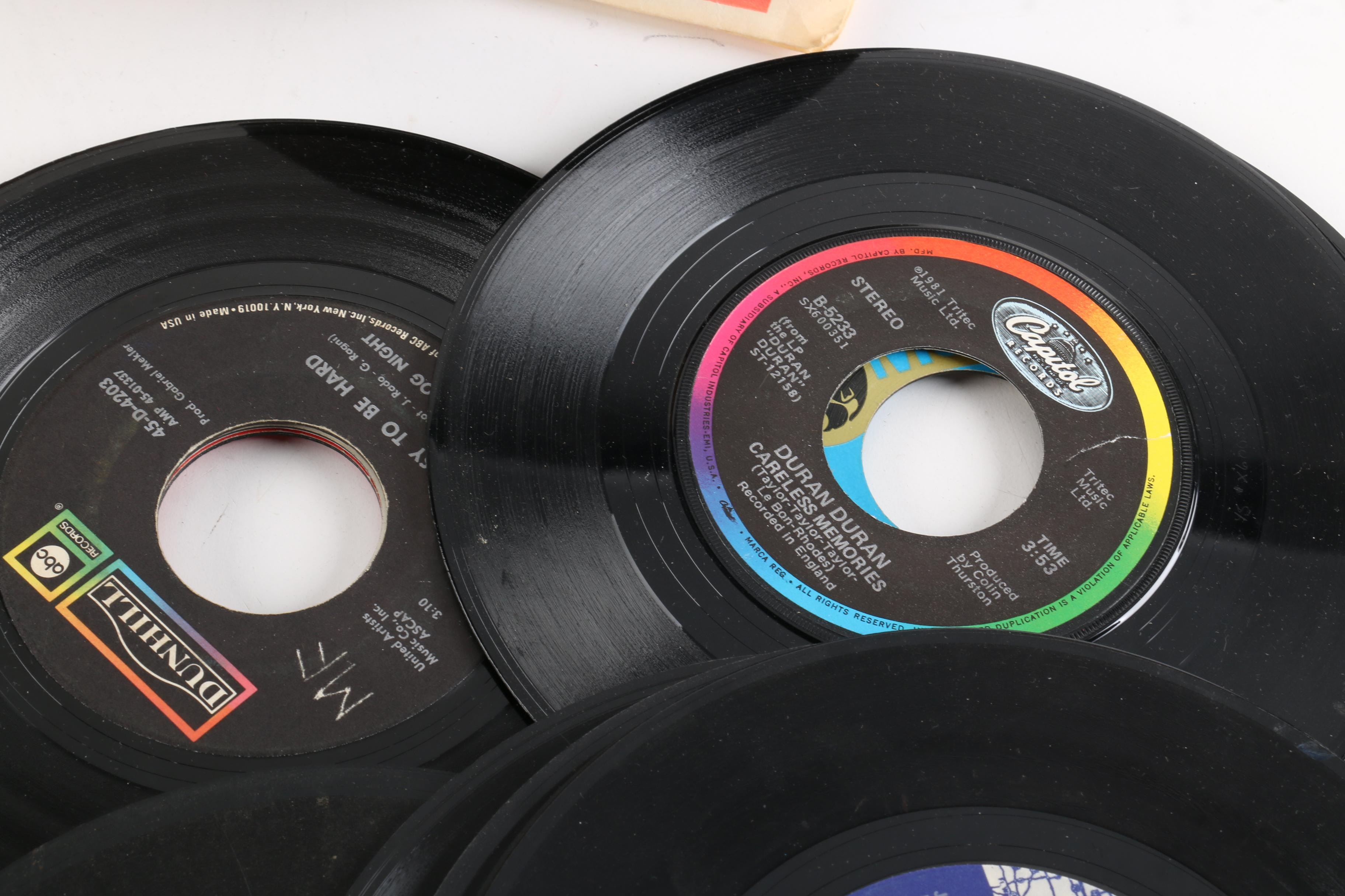 Vintage 45 Rpm Records Including Dionne Warwick Duran