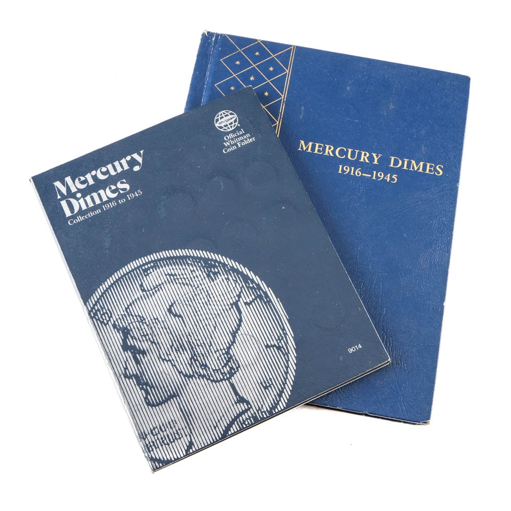 1916 to 1945 Two Volume Mercury Dime Collection