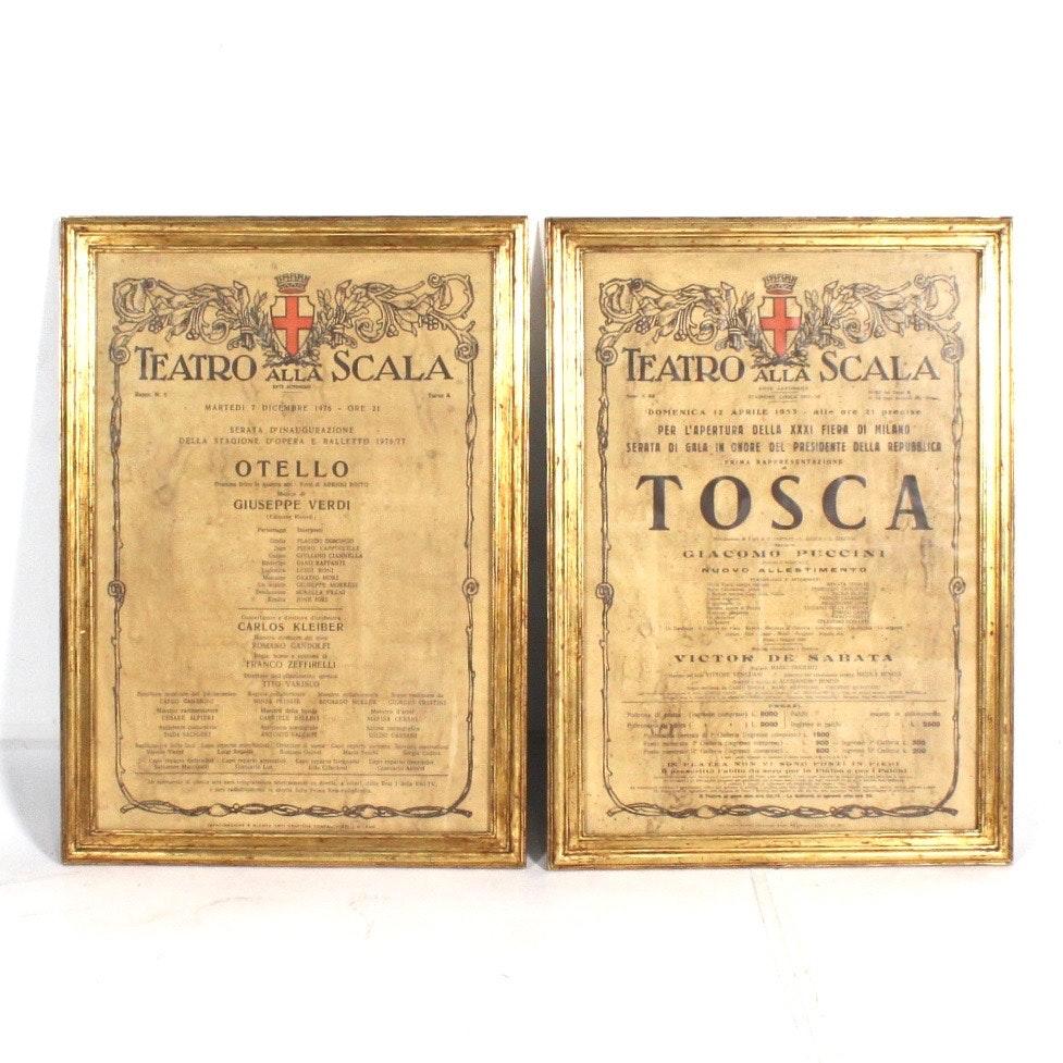 Teatro alla Scala Opera Posters