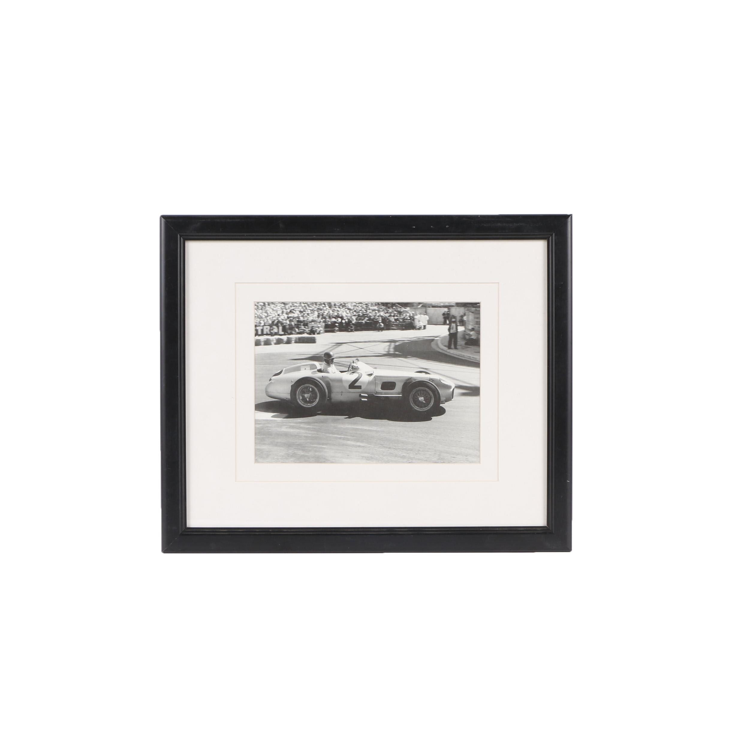 "Halftone Print After Alan Smith ""Grand Prix De Monaco 1955 """