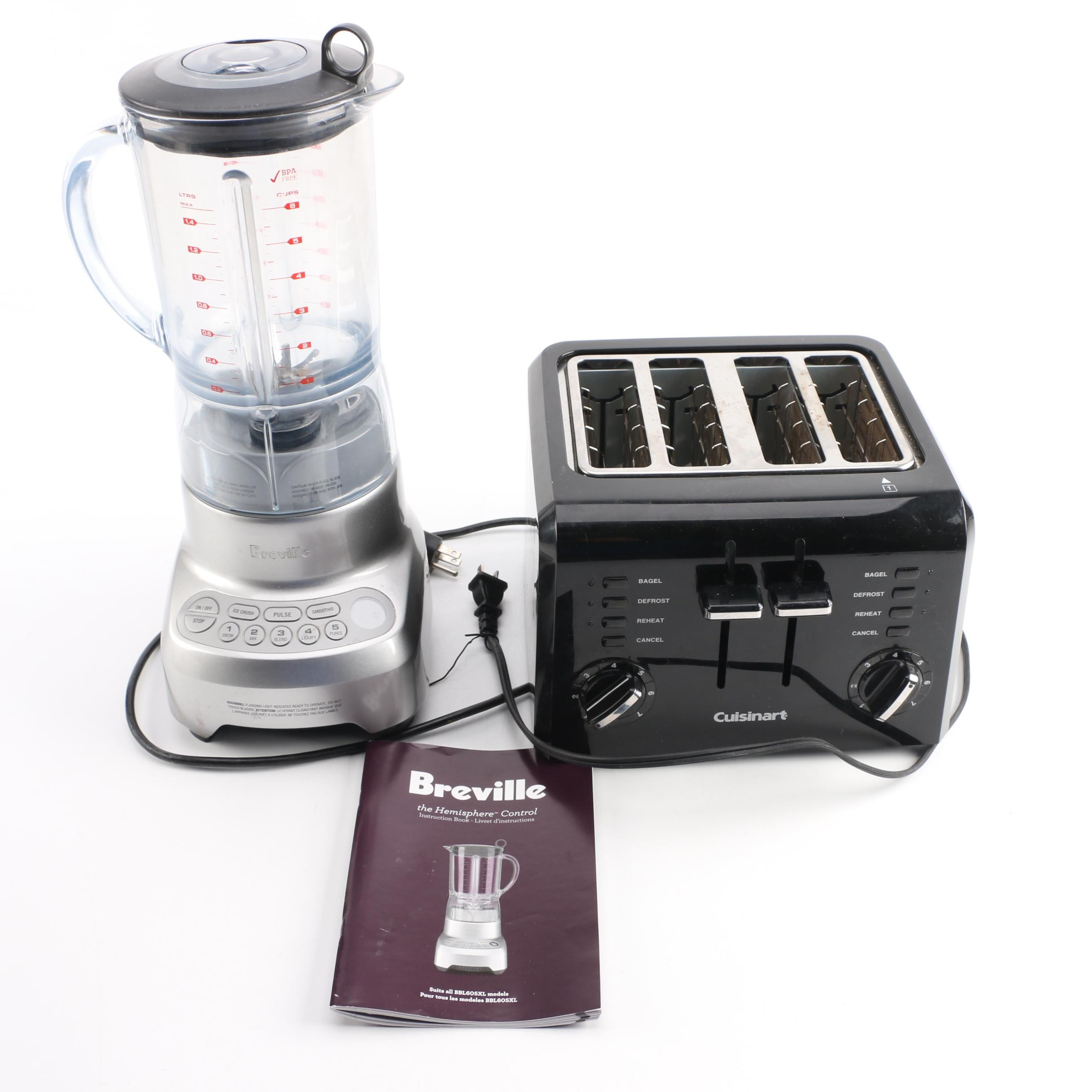 Breville Blender and Cuisinart Double Toaster EBTH