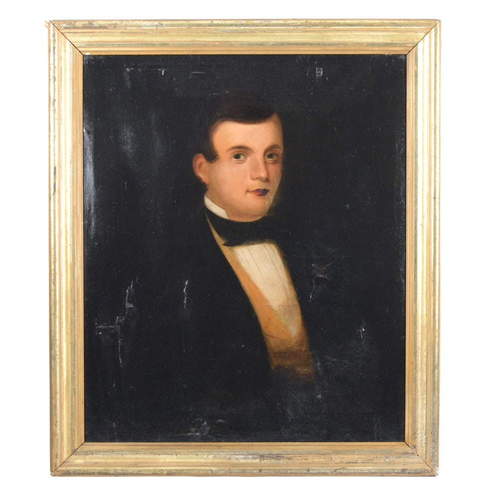 Mid 19th Century Oil on Canvas Portrait