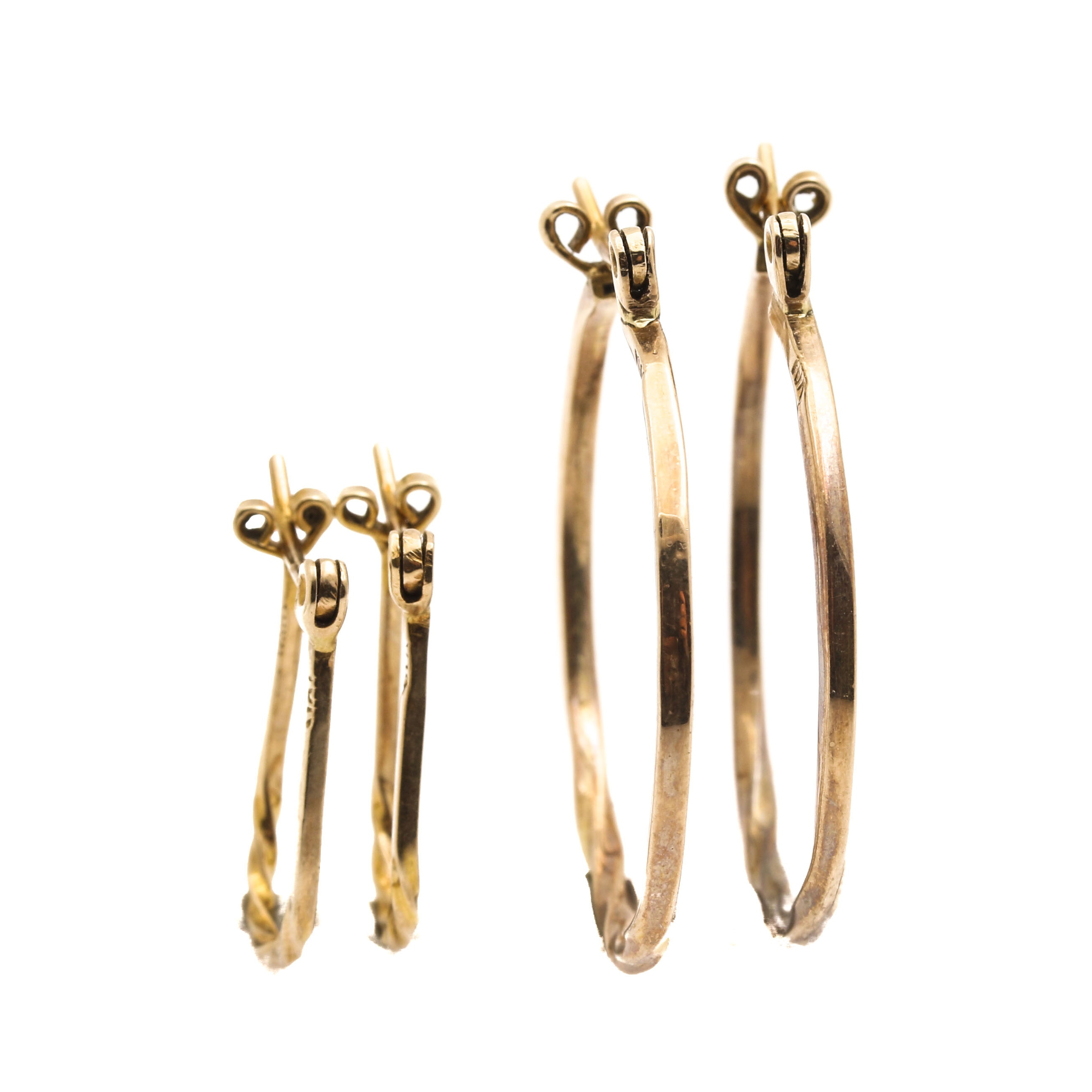 14K Yellow Gold Twisted Hoop Selection