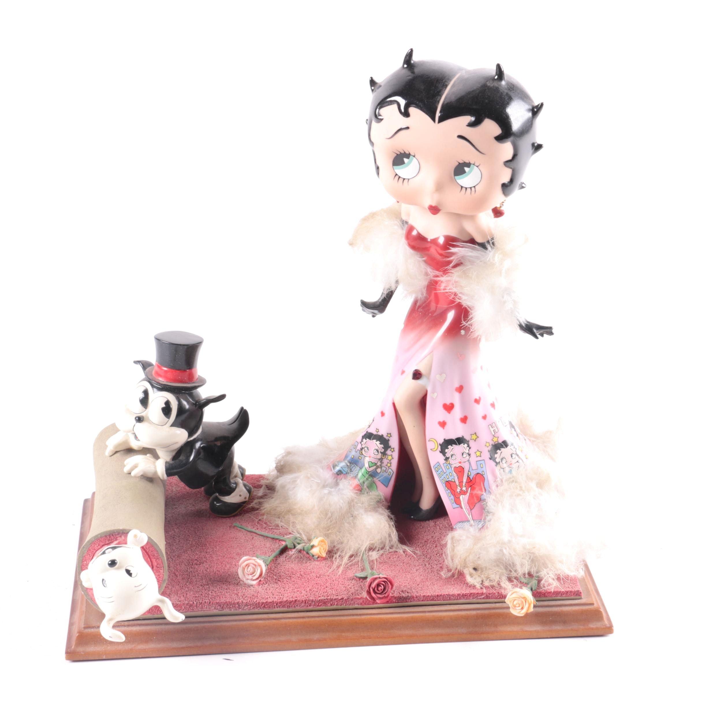 "Danbury Mint ""Red Carpet Betty"" Limited Edition Betty Boop Figurine"