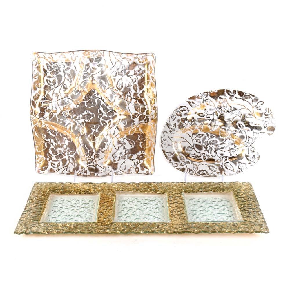 Vintage Decorative Glass Serveware