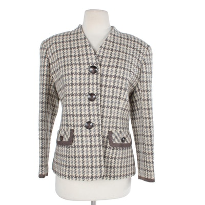 ba5b3bfbd2 Women s Pierre Balmain Wool Houndstooth Suit Jacket