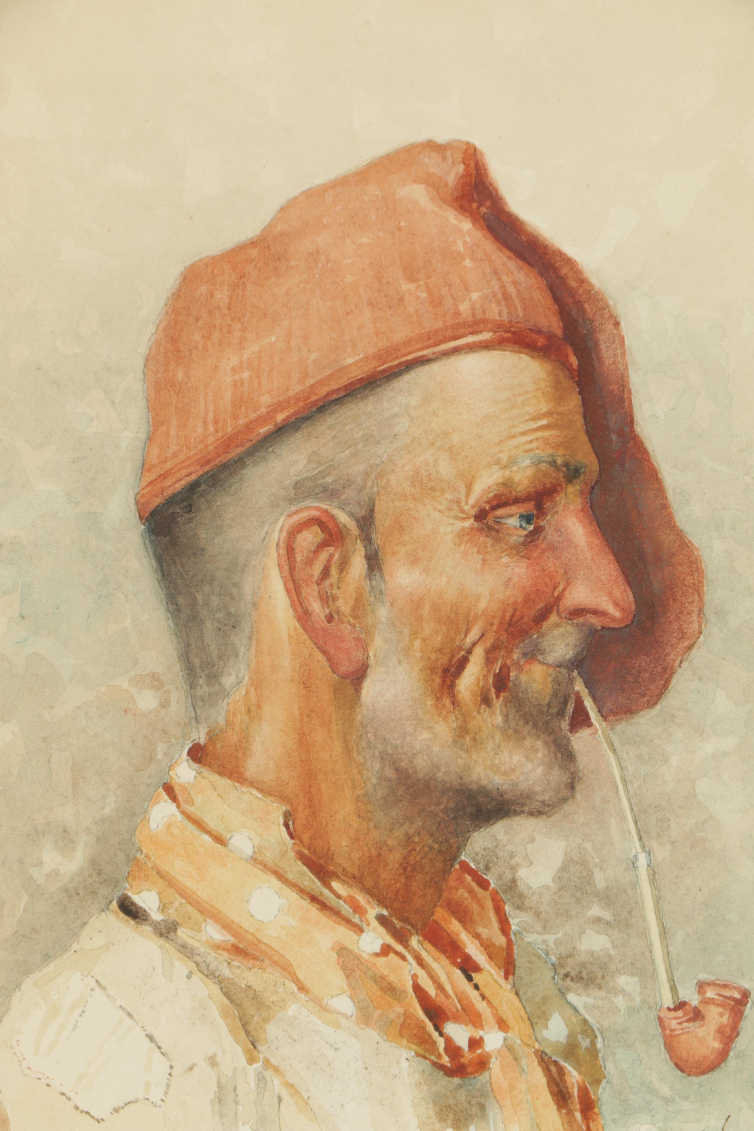 G Di Napoli Watercolor Painting Ebth