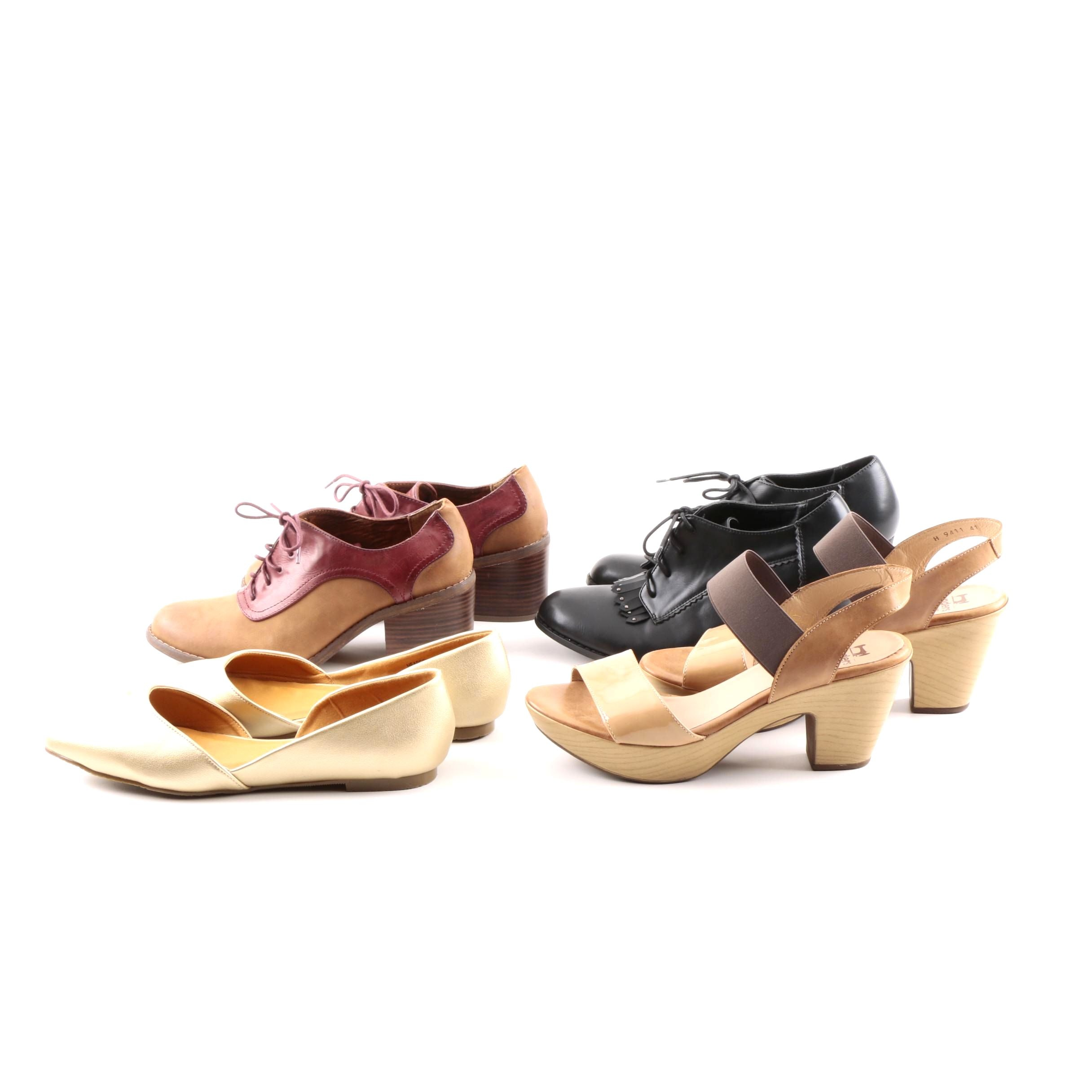 Women's Lace-Up Booties, Flats and Heels