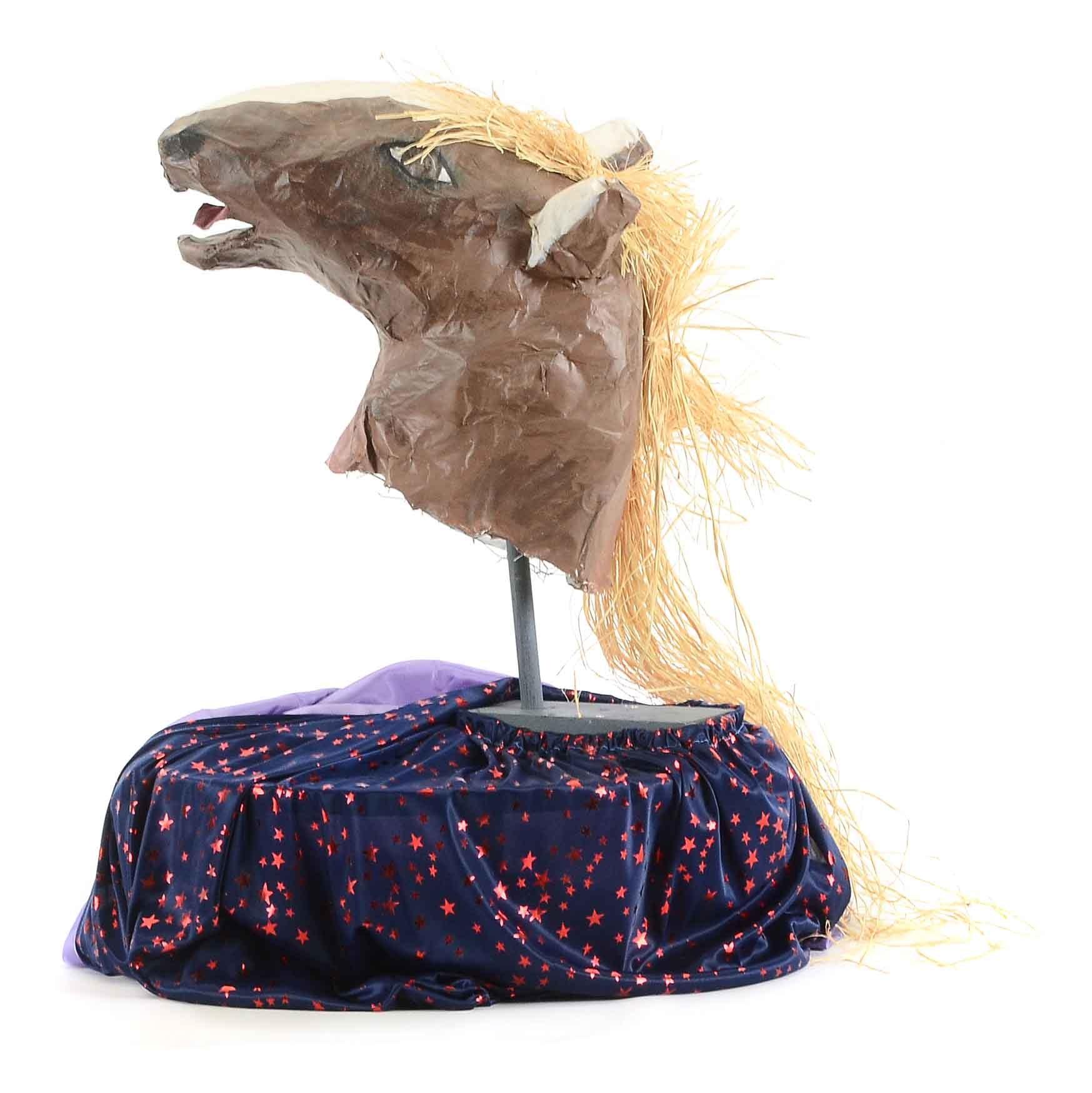 Papier-Mâché Horse Head