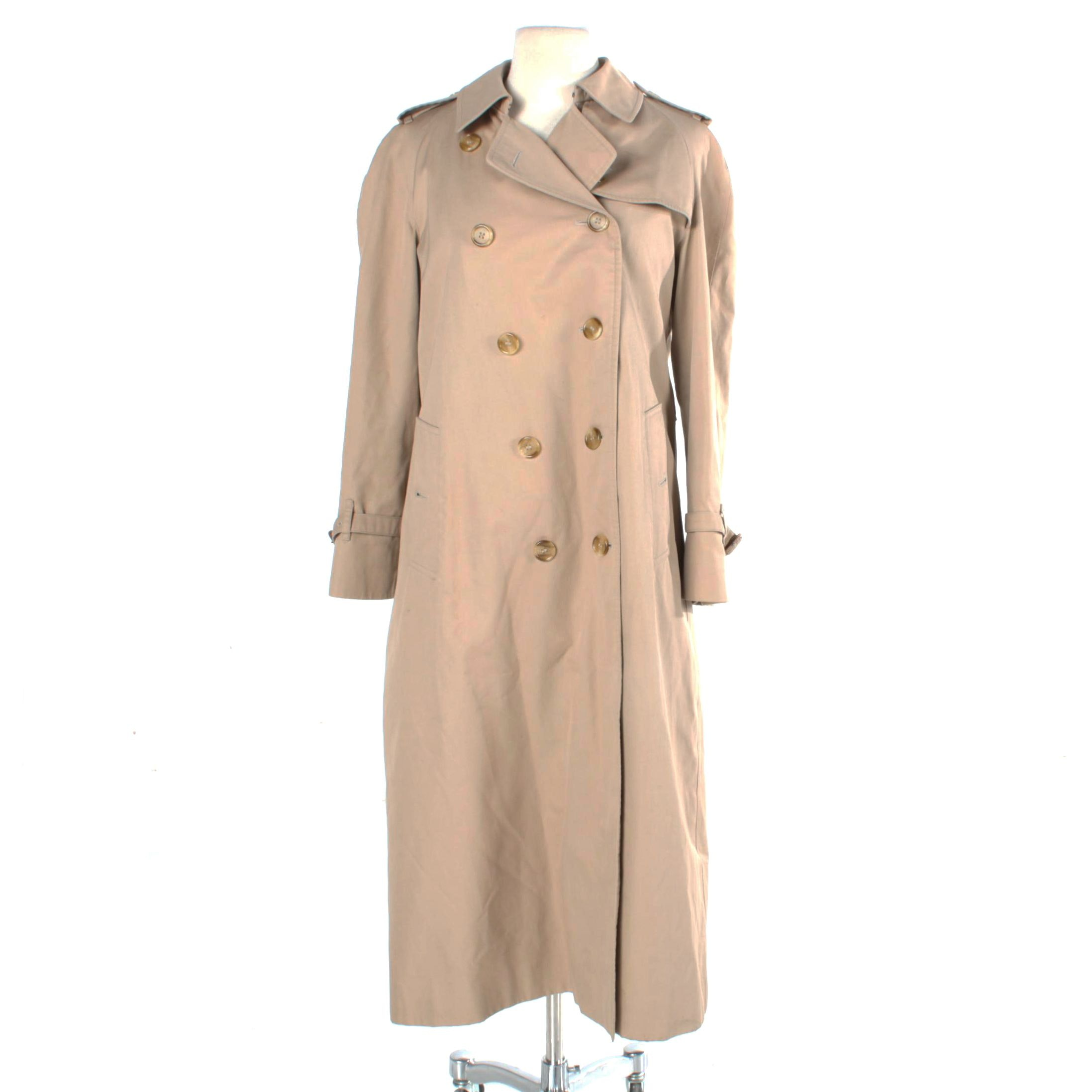 Women's Burberry Double-Breasted Trench Coat