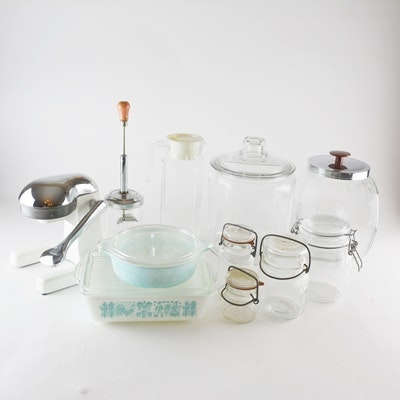 Vintage Pyrex, Juicer and More
