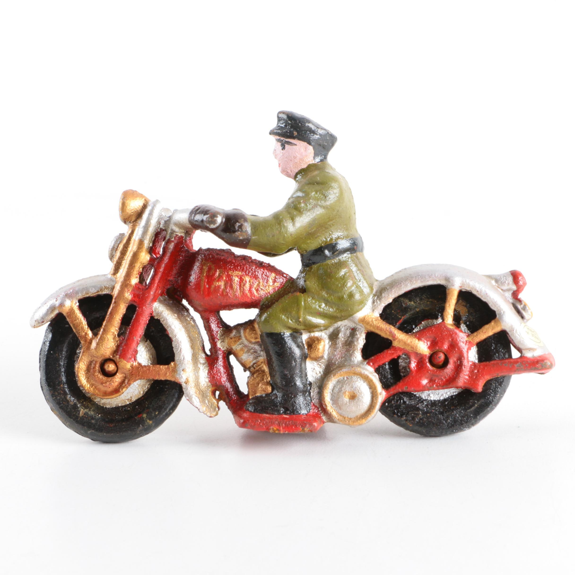 Reproduction Hubley Style Die Cast Patrol Officer Figurine