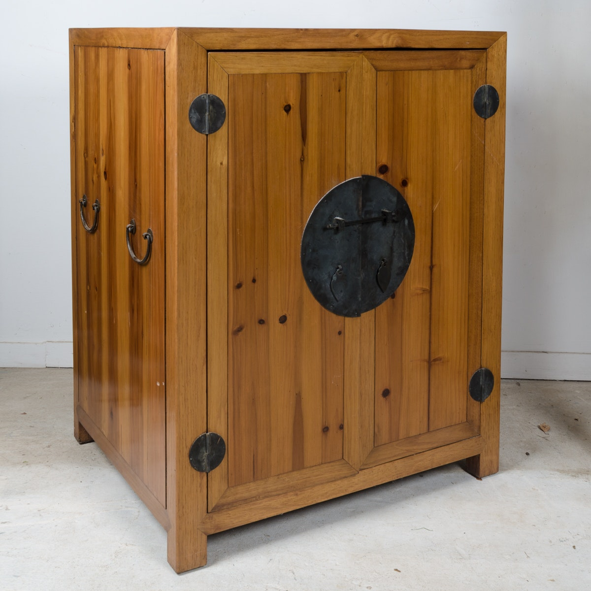 Chinese-Inspired Pine Cupboard