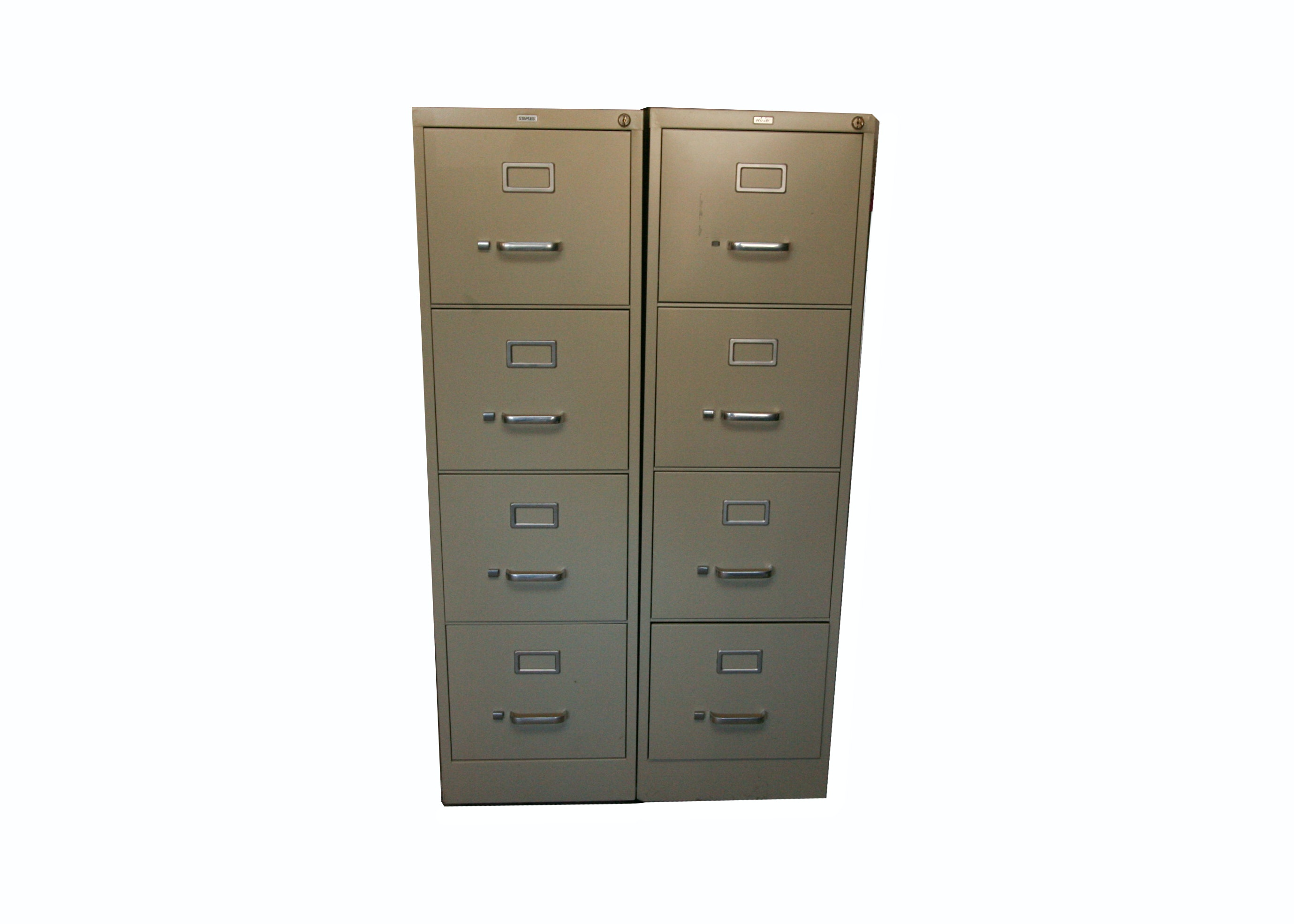 Hirsh and Staples Metal Filing Cabinets