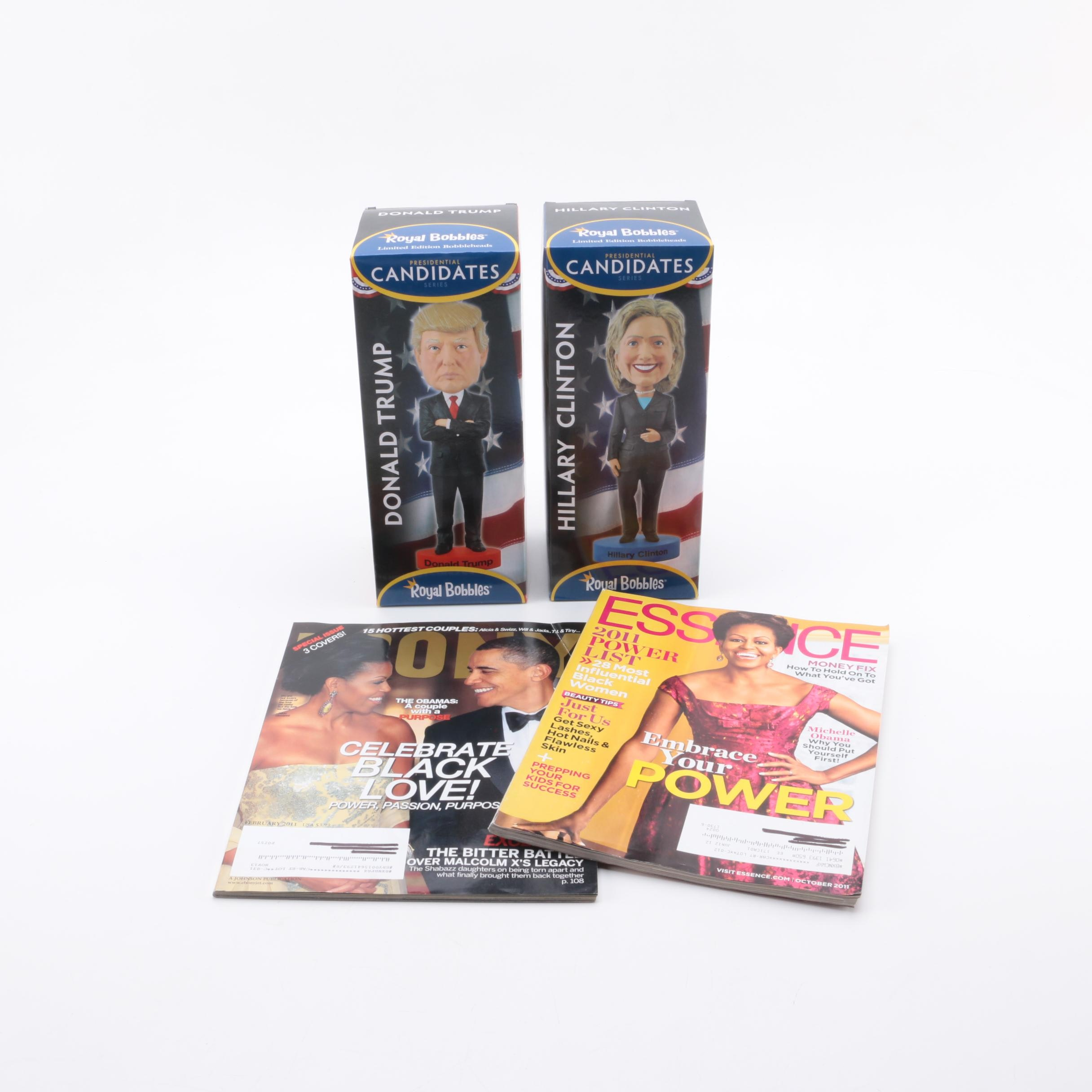 Political Bobbleheads and Michelle Obama Cover Magazines