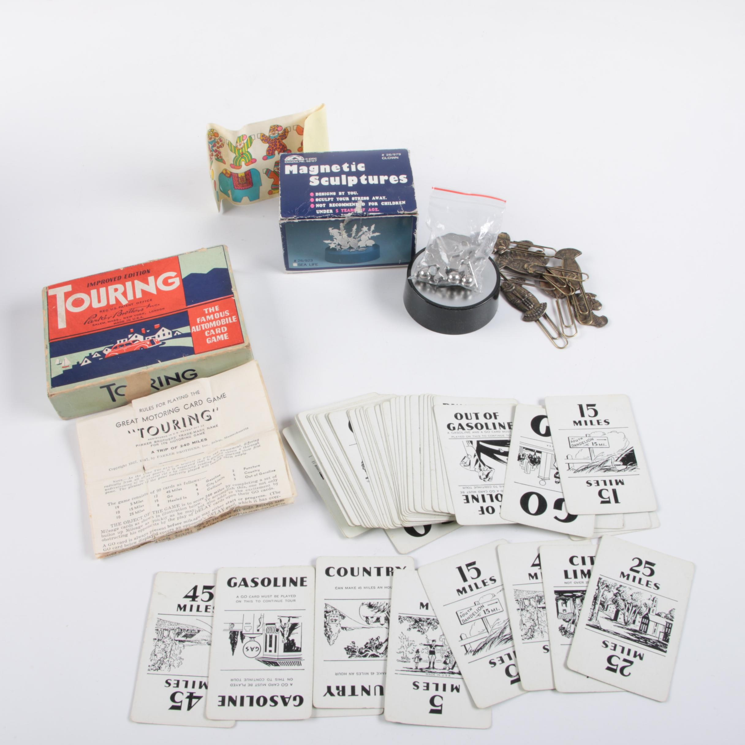 "Automobile ""Touring"" Card Game and Office Supplies"