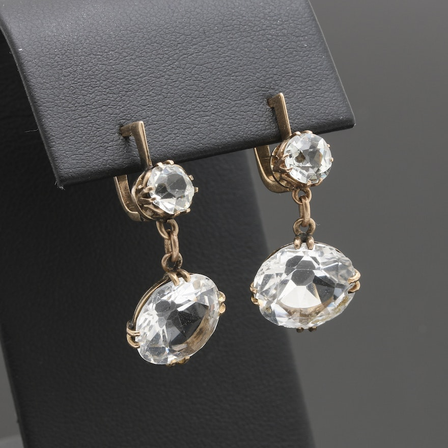 earrings white topaz quartz ben bridge jewelry jeweler dangle