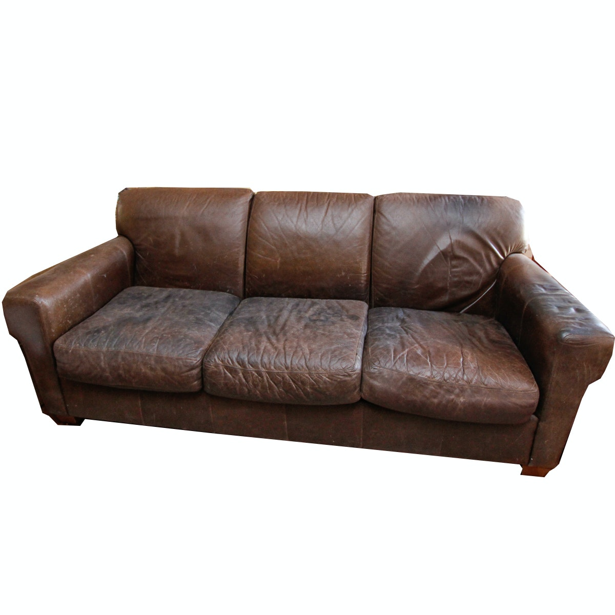 Vintage Leather Sofa by Bauhaus