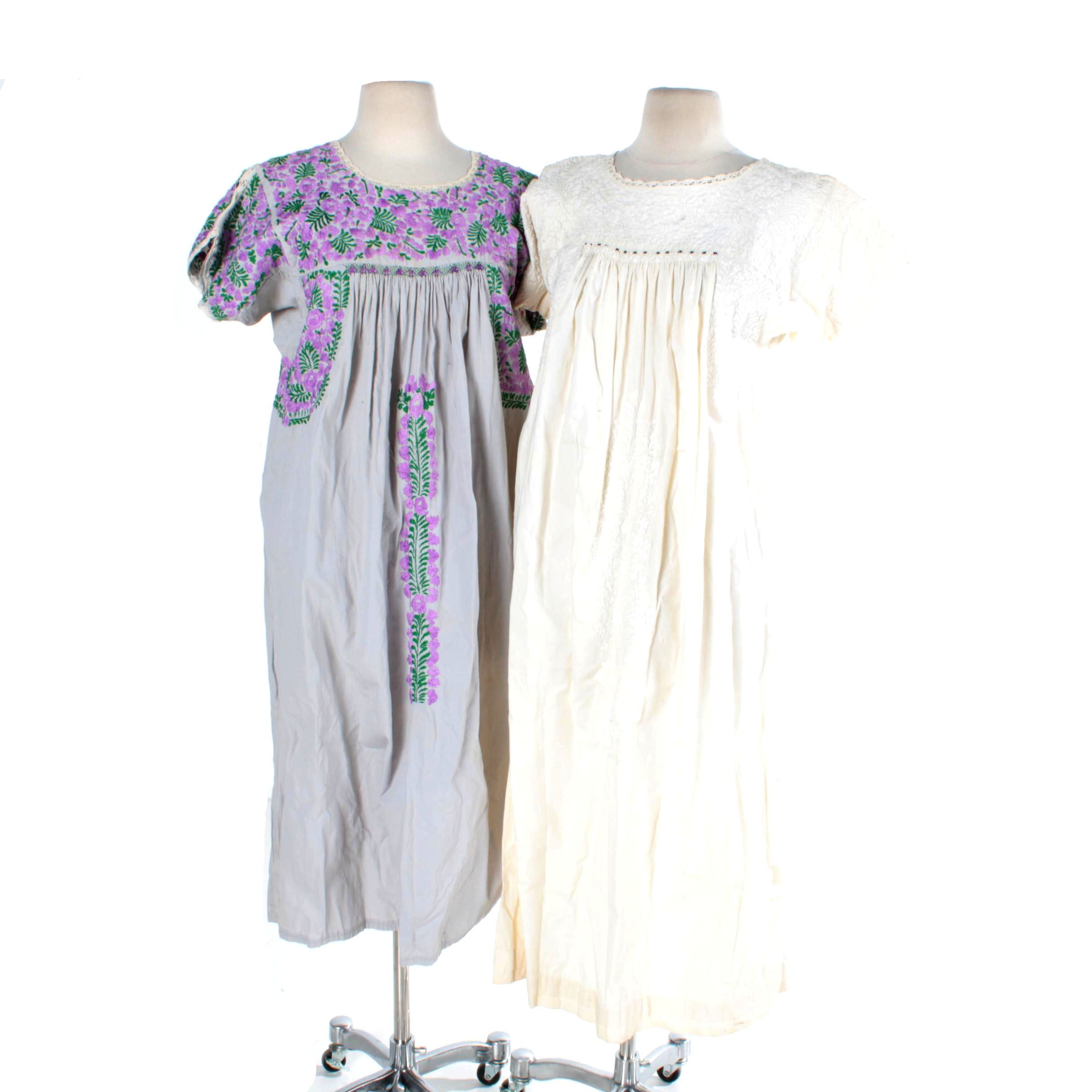 Two Vintage Mexican Dresses