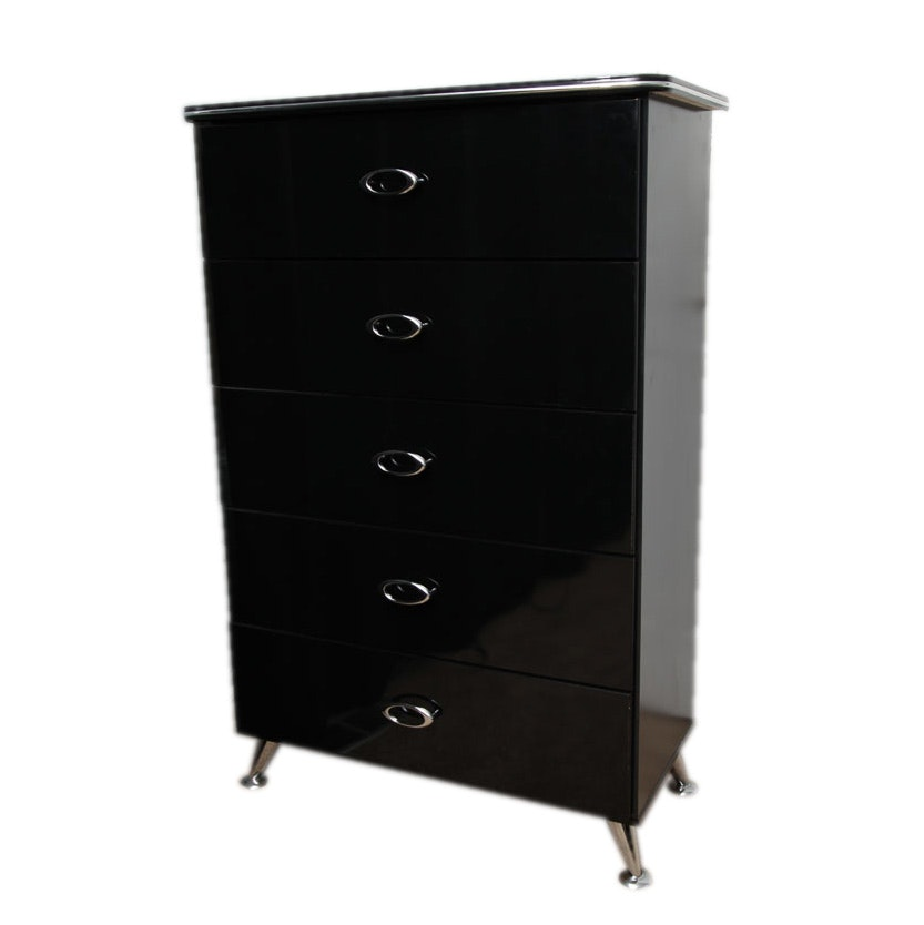 Ashley Furniture Black Highboy Matrix Five-Drawer Dresser