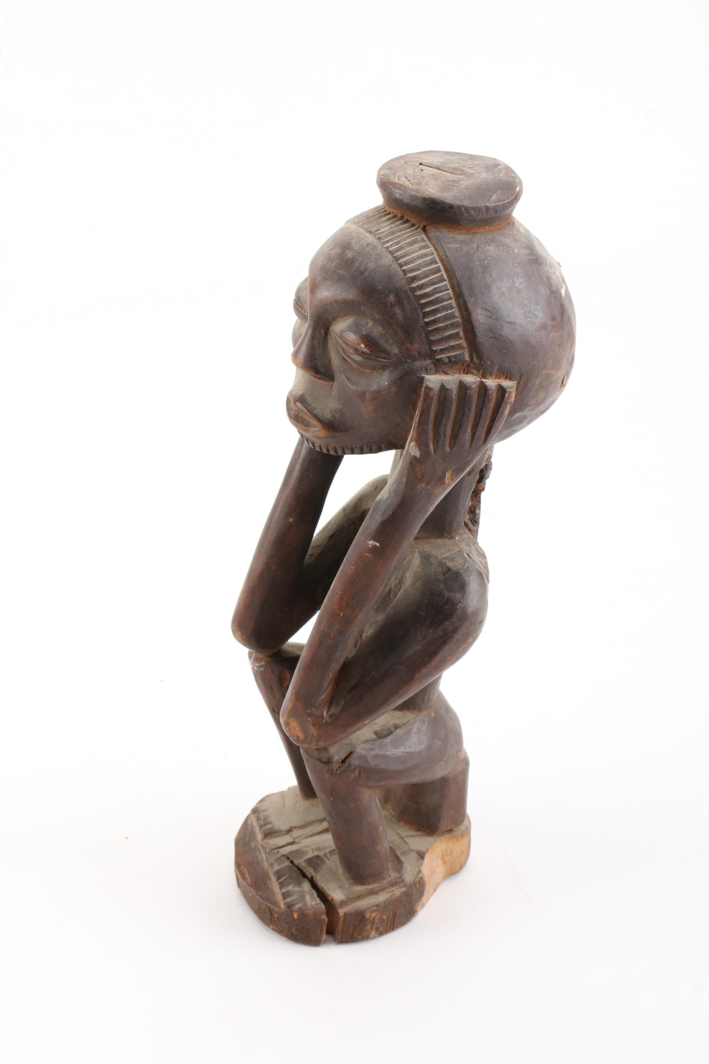 Central african style carved figure ebth