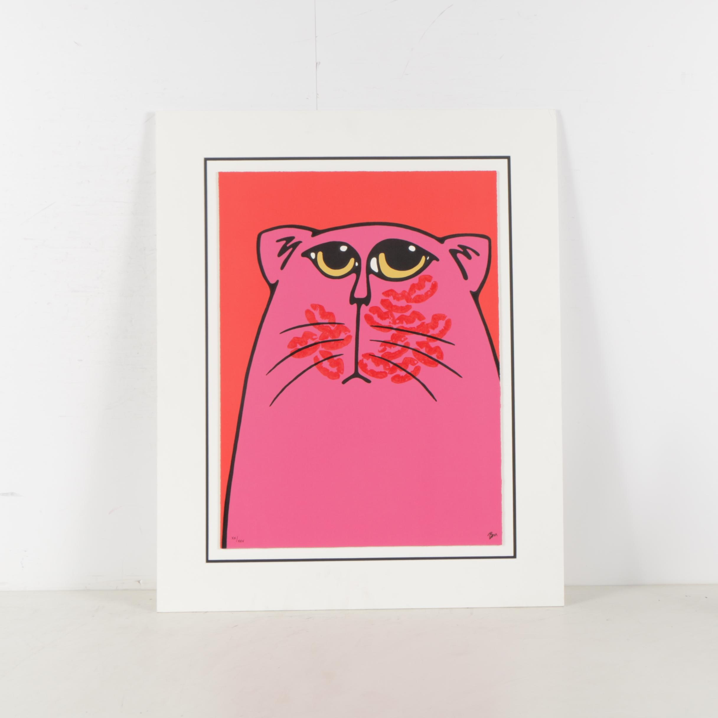 "Bruce McKay Limited Edition Serigraph ""Kissy Face"""